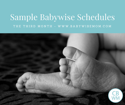 Sample Babyiwse Schedules: Three Months Old