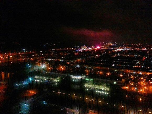 Permandangan bandar melaka waktu malam menara taming sari