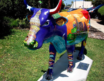 Udderly Austin Cow Parade Statue in Austin Texas