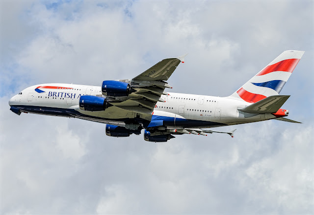 Airbus A380-800 British Airways While Inflight