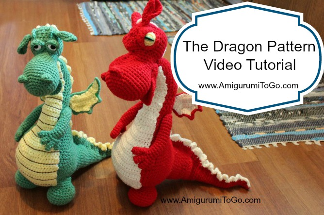 The Dragon Pattern On Youtube Video Tutorial Amigurumi To Go