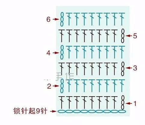 Схема вязания бантика-бабочки