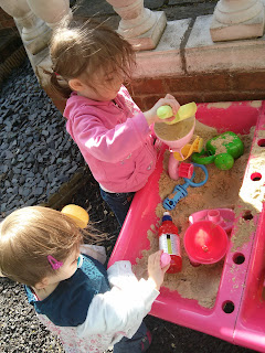 playing in garden