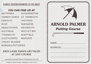 A scorecard from the Arnold Palmer Putting Courses in Skegness
