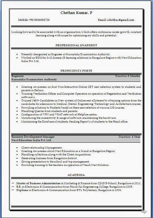 resume for mba hr internship