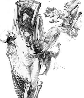 Figura humana dibujo de cuerpo femenino