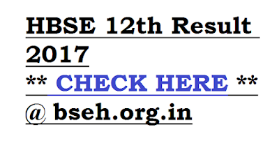 HBSE 12th Result 2017 at bseh.org.in
