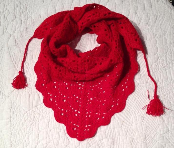 My Granny\'s legacy...crochet: Pañuelo & chal triangular con patron