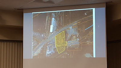 map showing the location of the NuStyle brown fields property on Grove St being put up via RFP for sale