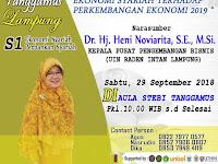 Desain Brosur Seminar Ekonomi Syariah STEBI Tanggamus Lampung