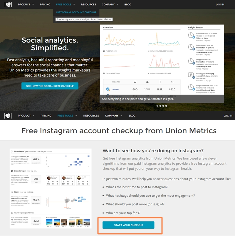 Ferramenta gratuita para analisar dados no Instagram