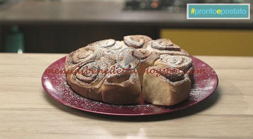 Pronto e postato - Torta di rose alla cannella ricetta Benedetta Parodi