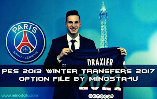 Winter Transfer PES2013 (Option File 2017 By Minosta4U)