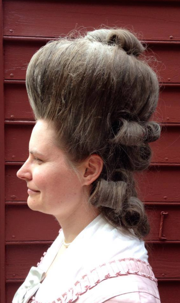 Marvelous Two Nerdy History Girls The Truth About The Big Hair Of The 1770S Hairstyles For Women Draintrainus