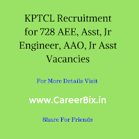 KPTCL Recruitment for 728 AEE, Asst, Jr Engineer, AAO, Jr Asst Vacancies