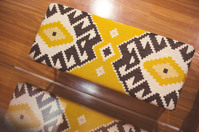 in love with this ethnic fabric bench by Inês Pereira