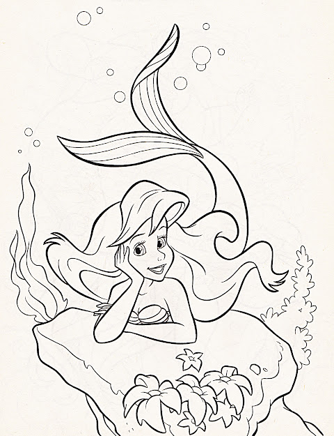 Walt Disney Coloring Pages Princess Ariel Photo