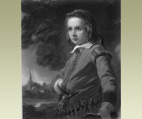 An imagined portrait of William Shakespeare at 12, from painting by J. Sant.