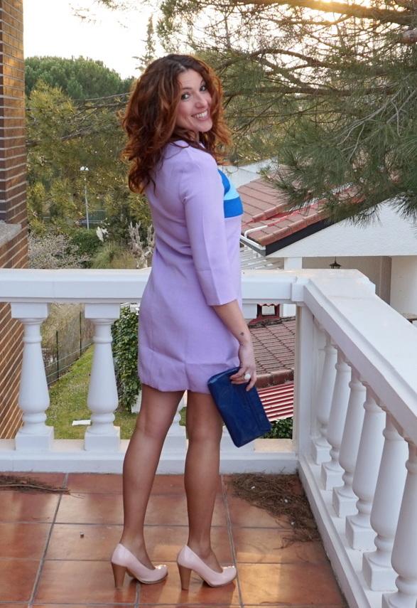 Vestido corto lila online