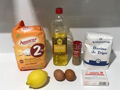 Ingredientes para los rollos de Sant Blai