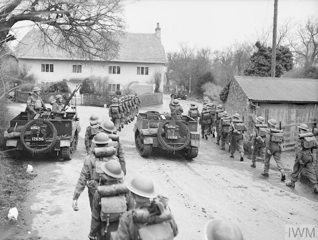 12 March 1941 worldwartwo.filminspector.com Bren gun carriers Northamptonshire Regiment