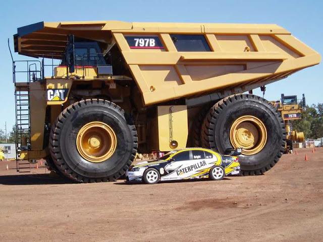 CATERPILLAR 797 mobil terbesar dan terberat di dunia