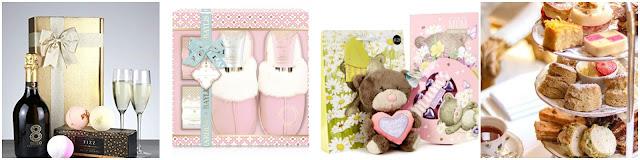 collage - prosecco gift set, slipper gift set, card factory bundle, afternoont ea