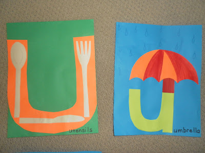 The next pages in our Alphabet Craft Book-U for Utensils, u for ...
