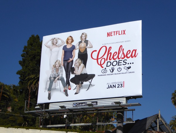 Chelsea Does series premiere billboard