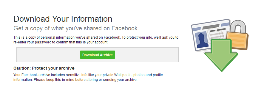 how to download facebook photos at all once