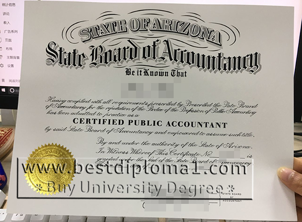 Arizona CPA certificate to buy