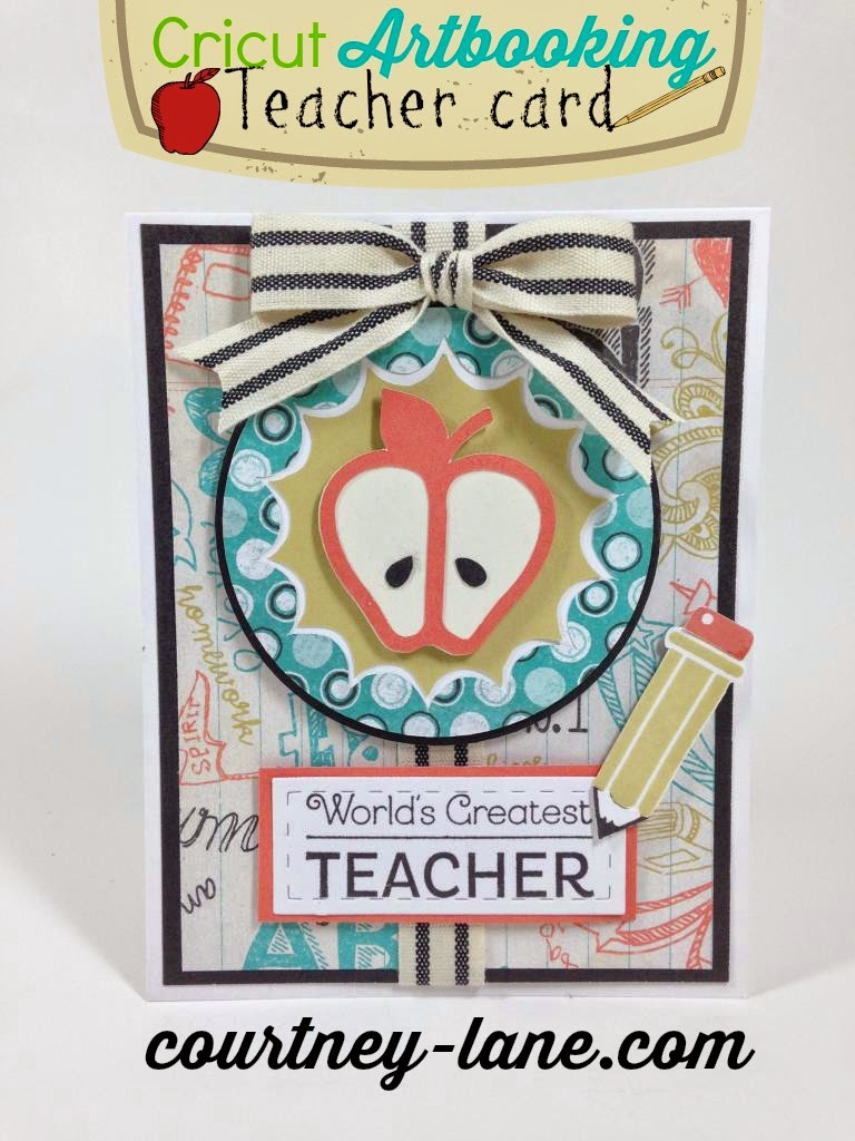 Cricut Artbooking Teacher appreciation card