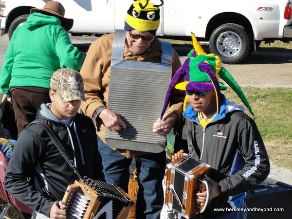 Zydeco band in Iowa Chicken Run in Iowa, Louisiana