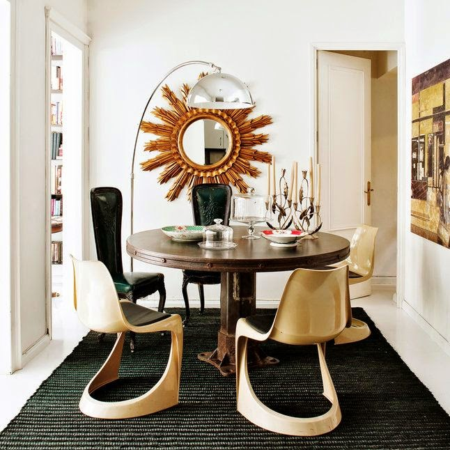 Gold Dining Room: Rooms Of Inspiration: Gorgeous Gold And White Dining Room