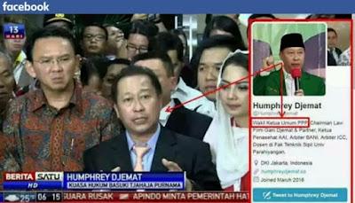 Prihatin, Pengacara Ahok, Humphrey Djemat Ternyata Wakil Ketua Umum PPP Kubu Djan Faridz