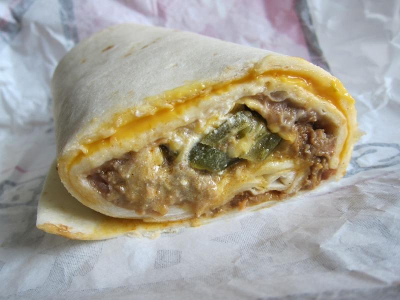 Bean And Cheese Burrito Del Taco of the beans  sour cream