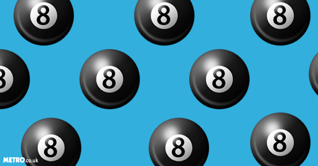 Facebook users are posting an emoji of an eight-ball