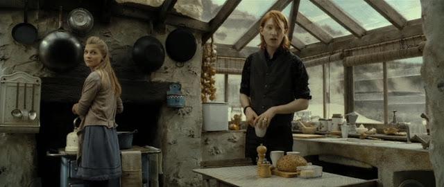 Бил Уизли и Фльор Делакор в Хари Потър и даровете на смъртта