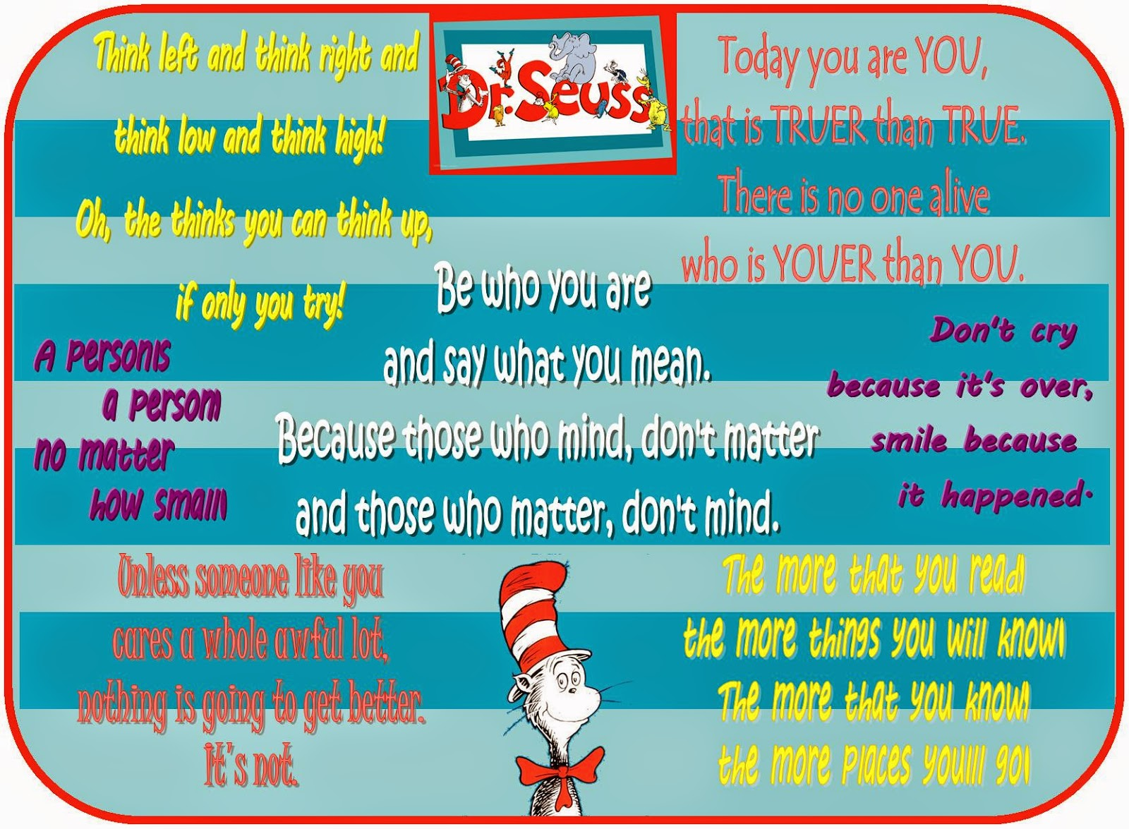 The Chronicle Of Woos: Happy Birthday, Dr. Seuss