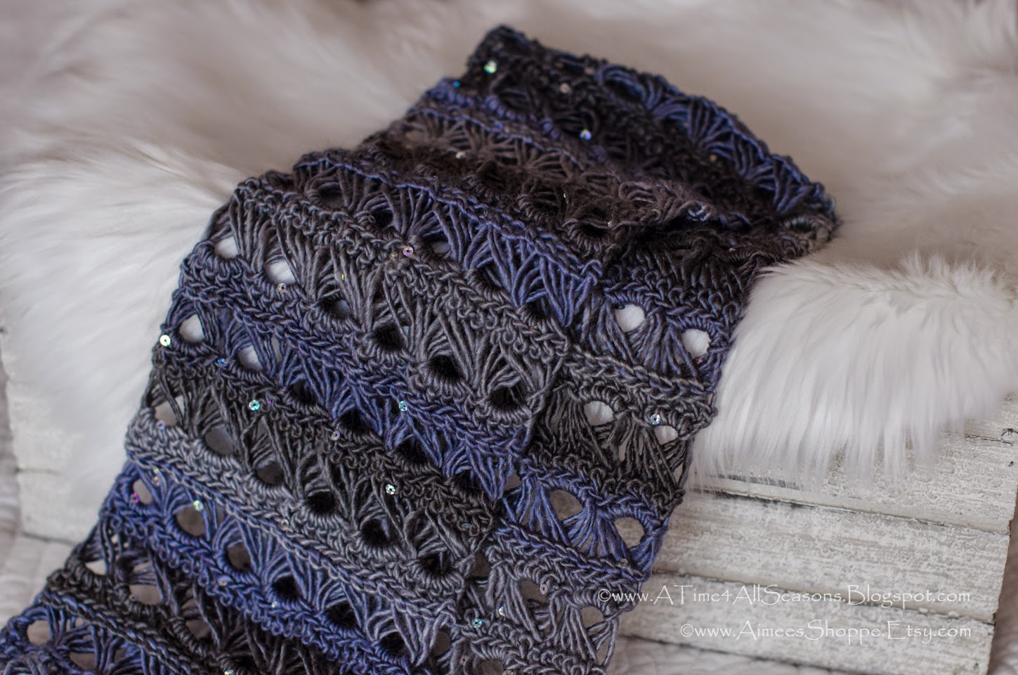 A Time For All Seasons Broomstick Lace Infinity Scarf