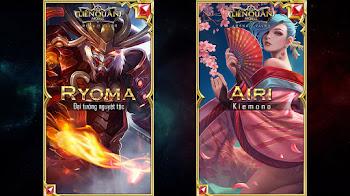 Hình nền Ryoma - Đại tướng nguyệt tộc và Airi - Kiemono