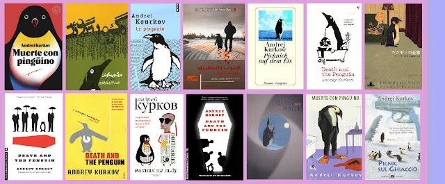portadas del libro de suspense Muerte con pingüino, de Andrei Kurkov