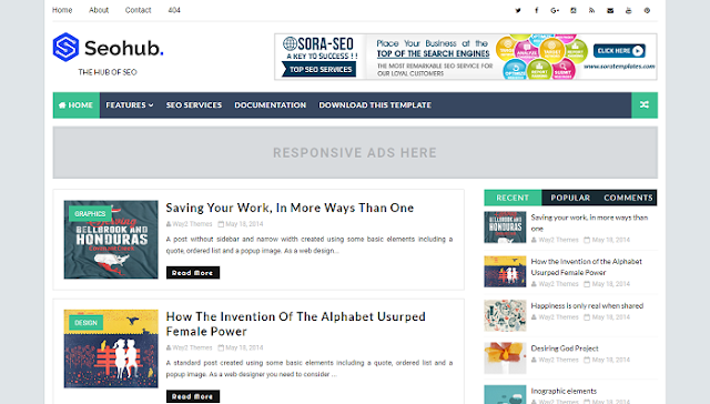 SeoHub Blogger Teması
