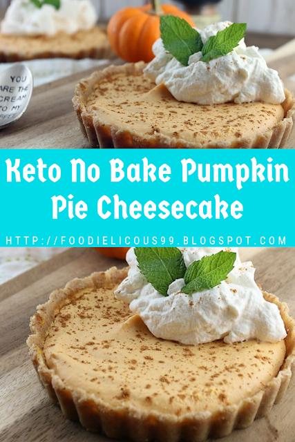 Keto No Bake Pumpkin Pie Cheesecake