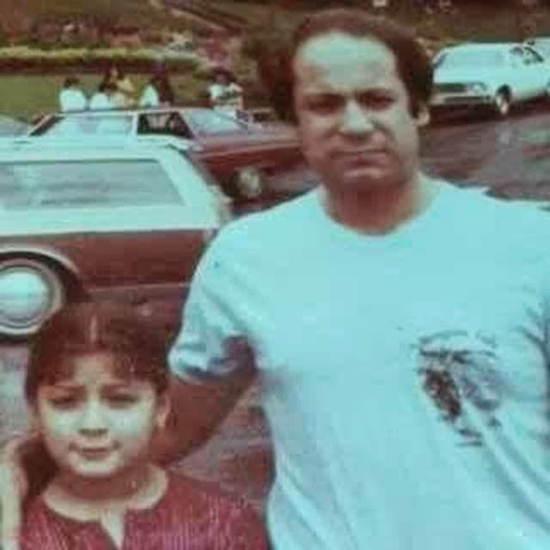 Maryam Nawaz Sharif with her father