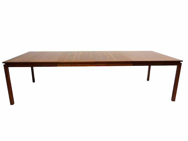 Edward J Wormley Mid-Century Modern Walnut Dining table by Dunbar