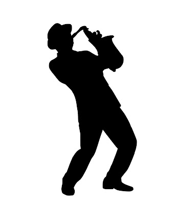 Silhouette, musician,saxophone,jazz,entertainment,artist,performer, free Illustrations, free images,