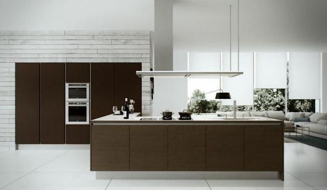 Tủ bếp gỗ Laminate màu ghi trang nhã