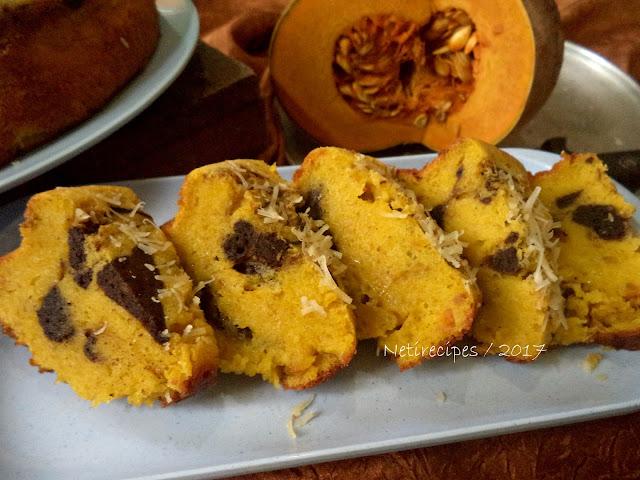 Resep Cake Marmer Labu Kuning