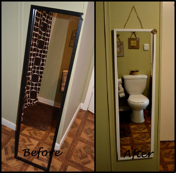 a country nest: bathroom mirror makeover